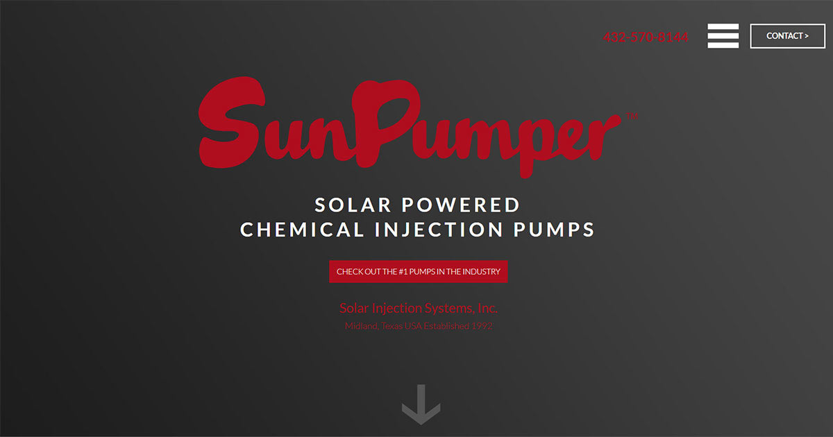 Sun Pumper 1 Solar Powered Chemical Pump On Earth